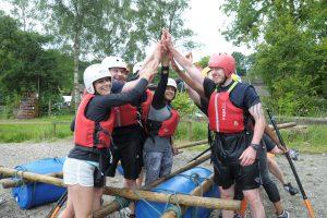 Raft on land
