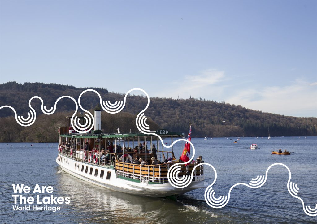 World Heritage Site - We are the Lakes with boat